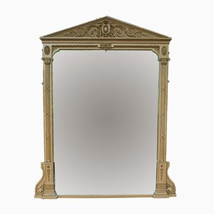 Large Antique Overmantel Mirror, 1850s