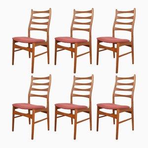 Dänische Mid-Century Esszimmerstühle aus Teak, 1960er, 6er Set