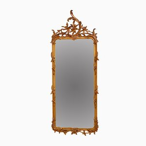 Chippendale Revival Gilt Wood Wall Mirror, 1900s