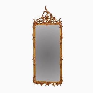 Espejo de pared Chippendale Revival de madera de Giltowood, década de 1900