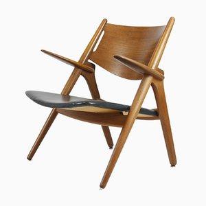 Sedia CH28 vintage di Hans J. Wegner per Carl Hansen & Søn, anni '50