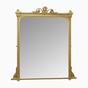 Large Victorian Overmantel Mirror