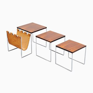 Tavolini ad incastro modernisti in palissandro, anni '60