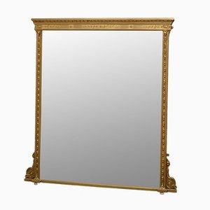Miroir de Cheminée Victorien en Bois Doré, Angleterre