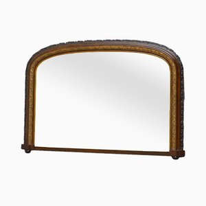 Arched Victorian Overmantel Mirror
