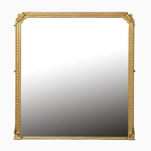 Grand Miroir Victorien en Bois Doré