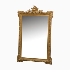 Antiker dekorativer Spiegel mit vergoldetem Rahmen