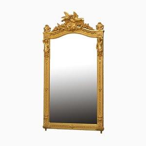 Spiegel mit vergoldetem Holzrahmen, 19. Jh