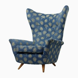 Italian Wingback Chair, 1950s