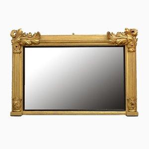 Antiker Spiegel im William IV Stil aus vergoldetem Holz