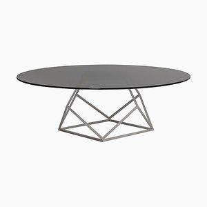 Tavolino da caffè in ferro e cristallo di Estudihac JMFerrero
