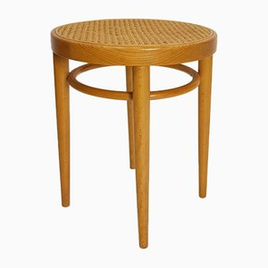 Bentwood & Rattan Stool from Thonet, 1970s