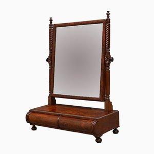 Antiker Regency Toilettenspiegel aus geflammtem Mahagoni