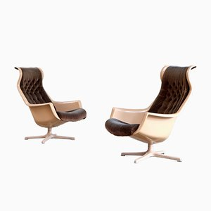 Vintage Galaxy Armchairs by Alf Svensson for Dux, Set of 2