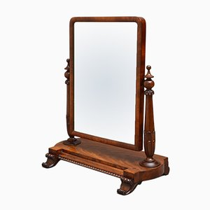 Antique William IV Style Mahogany Dressing Table Mirror