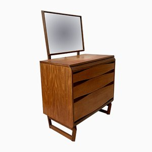 Vintage D177 Chest of Drawers with Mirror from White & Newton, 1960s