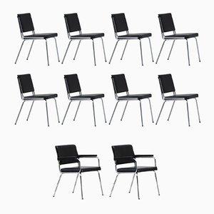 Industrielle französische Vintage C1960 Stühle, 10er Set