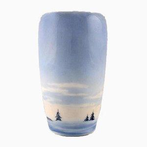 Vase mit winterlichem Motiv von Royal Copenhagen, 1920er