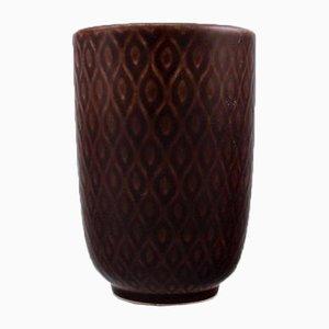 Marselis Vase mit geometrischem Muster von Nils Thorsson für Aluminia, 1950er