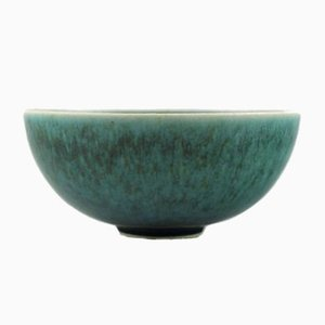 Blue & Green Glazed Stoneware Bowl from Saxbo, 1940s