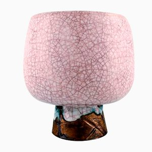 Large Vintage Crackled Vase by Pieter Groeneveldt