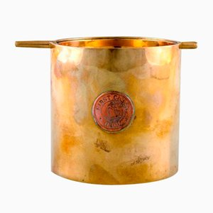 Large Brass & Copper Ashtray by Arne Jacobsen, 1950s