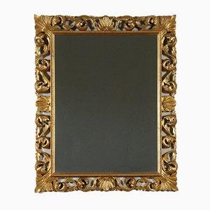 Antiker italienischer Spiegel mit perforiertem geschnitztem Rahmen