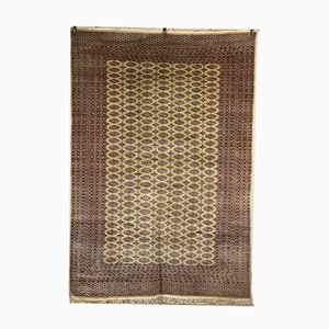 Vintage Bokara Wool & Cotton Carpet