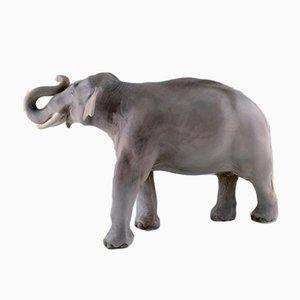 Antike dänische Modell 2430 Elefantenskulptur von Royal Copenhagen, 1890er