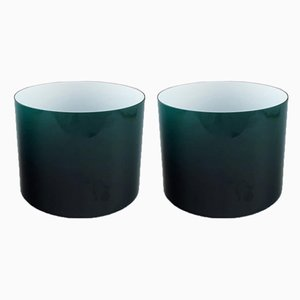 Vintage Green Opaline Glass Bowls from Holmegaard, 1960s, Set of 2