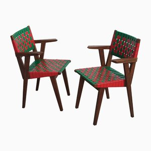 French Armchairs by Jens Risom for Knoll International, 1950s, Set of 2