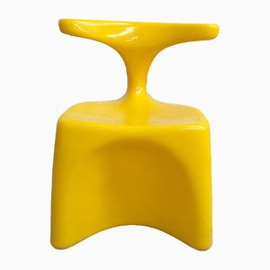 Yellow Zocker Chair by Luigi Colani for Top System Burkhard Lübke, 1970s
