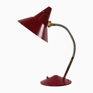Lampe de Bureau Hexenhut Rouge Vin de HELO Leuchten, 1950s