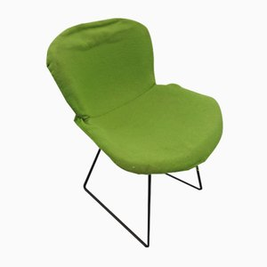 Weißer Beistellstuhl aus Draht von Harry Bertoia für Knoll Inc. / Knoll International, 1950er