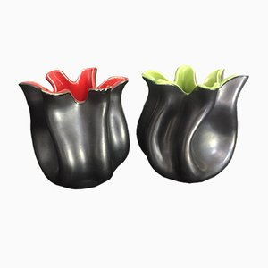 Handkerchief Vases by Elchinger Vallauris, 1950s, Set of 2