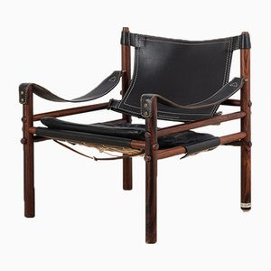 Rosewood Sirocco Safari Chair by Arne Norell, 1960s