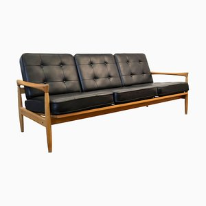 Vintage Swedish Kolding Oak 3-Seater Sofa by Erik Wørts