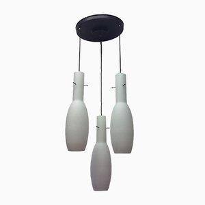 Lámpara de araña triple vintage, años 60