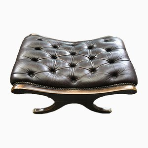 Vintage Chesterfield Leather Footrest
