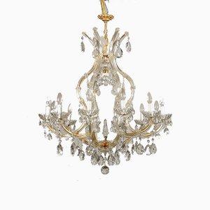 Antiker italienischer Kronleuchter aus Glas von Marie Therese