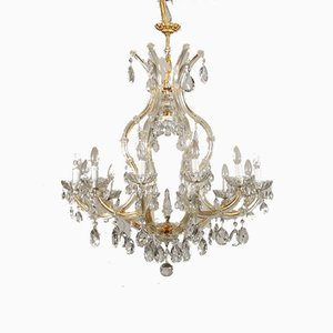 Antique Italian Glass Chandelier by Marie Therese