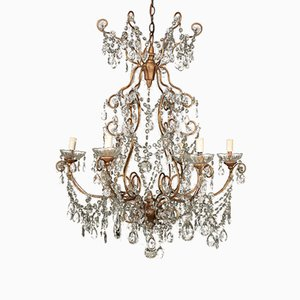 Antique Italian Glass Pendant Chandelier