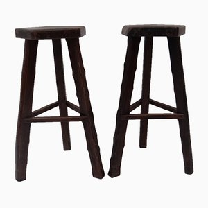 Vintage Stools by Olavi Hänninen for Mikko Nupponen, 1960s, Set of 2