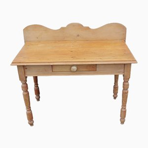 Rustic Pine Washstand with Drawer, 1920s
