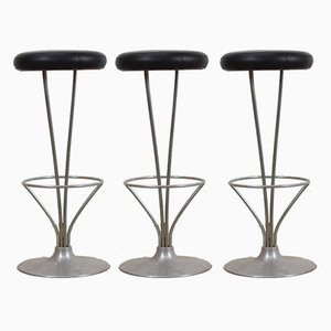 Bar Stools by Piet Hein for Fritz Hansen, 1960s, Set of 3