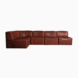 Neck Leather Modular DS 15 Sofa Set from de Sede, 1970s