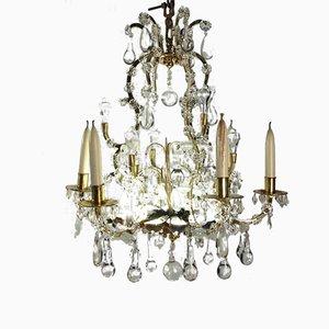Lustre Style Louis XV en Cristal, 19ème Siècle