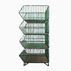 Industrial Metal Storage Rack, 1960s