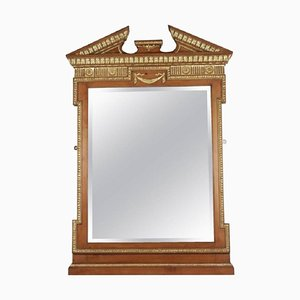 Neoclassical Charles X Style Gilded Wood and Stucco Mirror
