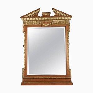 Neoklassizistischer Spiegel mit Rahmen aus vergoldetem Holz & Gips im Stil von Charles X